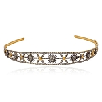 Tiara For Sale 10 Ct Natural Certified Diamond Golden Topaz 925 Sterling Silver Headband